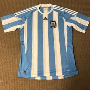 Mens Adidas Argentina Soccer Sports Jersey Size XL